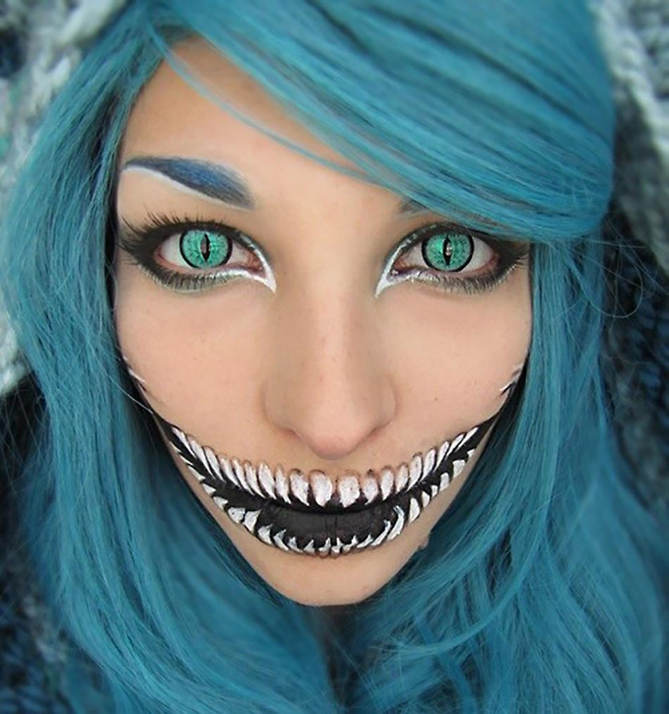 scary maquillage terrifiant effrayant artistique halloween