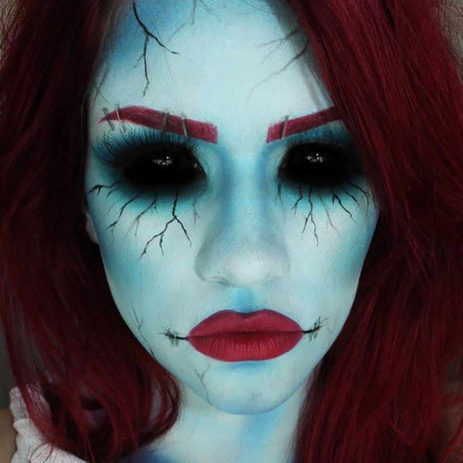 15 exemples de maquillages halloween pour se faire ou faire peur design feria. Black Bedroom Furniture Sets. Home Design Ideas