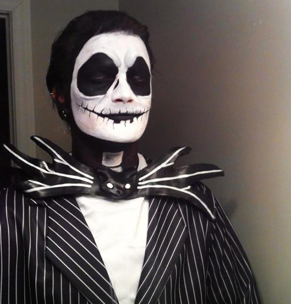 15 exemples de maquillages halloween pour se faire ou faire peur design feria - Deguisement film d horreur ...