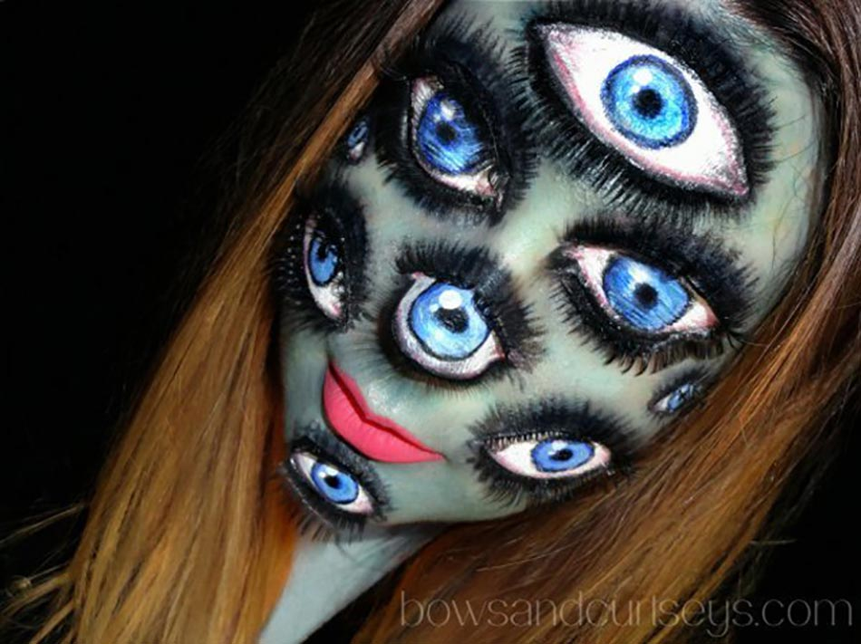 Maquillage oiel yeux Halloween