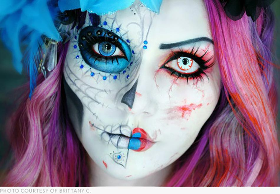 maquillage halloween unqiue inspiration