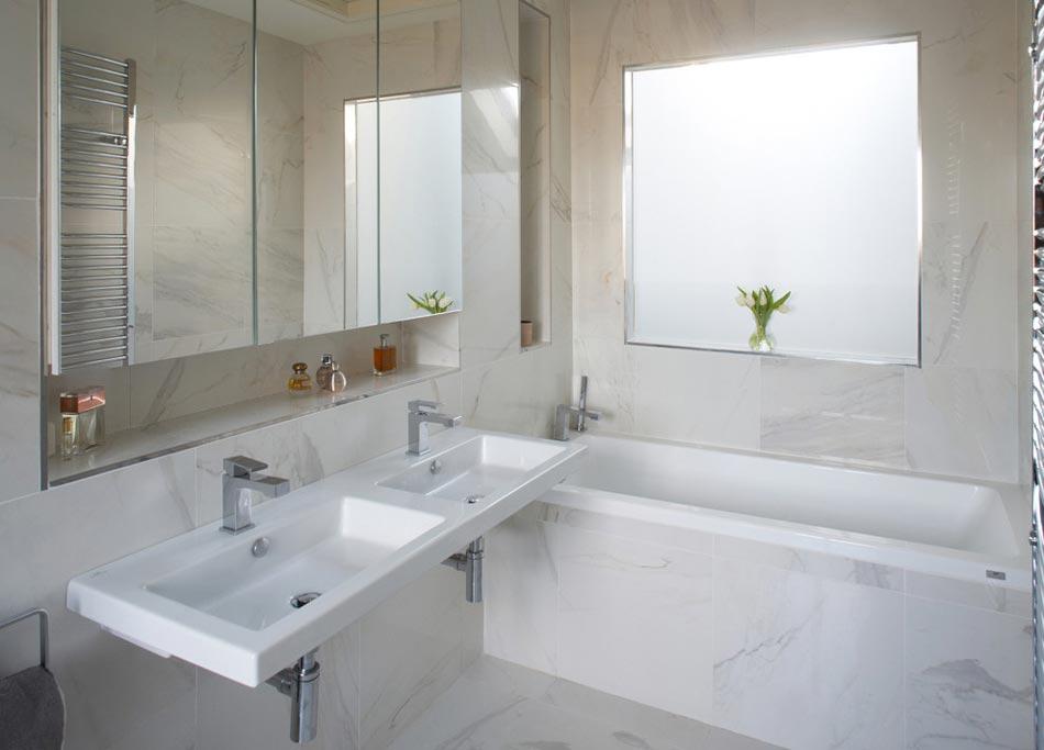 salle de bain marbre blanc pour afficher une classe intemporelle ... - Salle De Bains Blanche