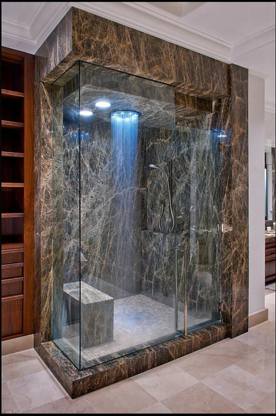 salle de bain d cor e par une douche design ultime. Black Bedroom Furniture Sets. Home Design Ideas