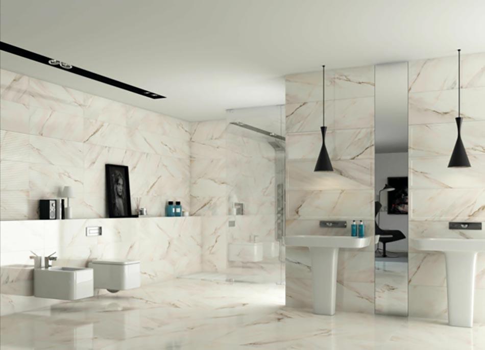 Salle de bain en marbre qui nous fait r ver design feria for Salle bain marbre blanc