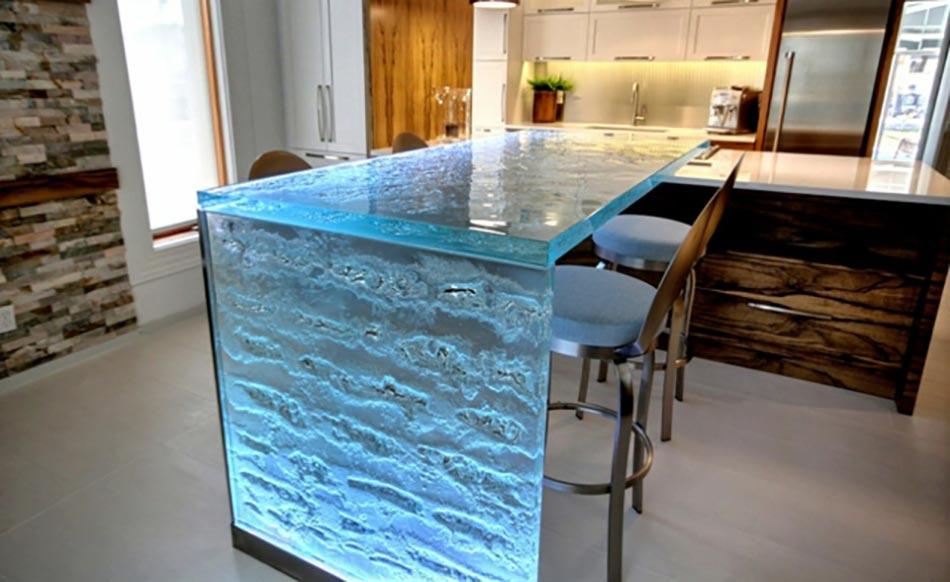 ambiance cosy par le luminaire led dans une cuisine moderne