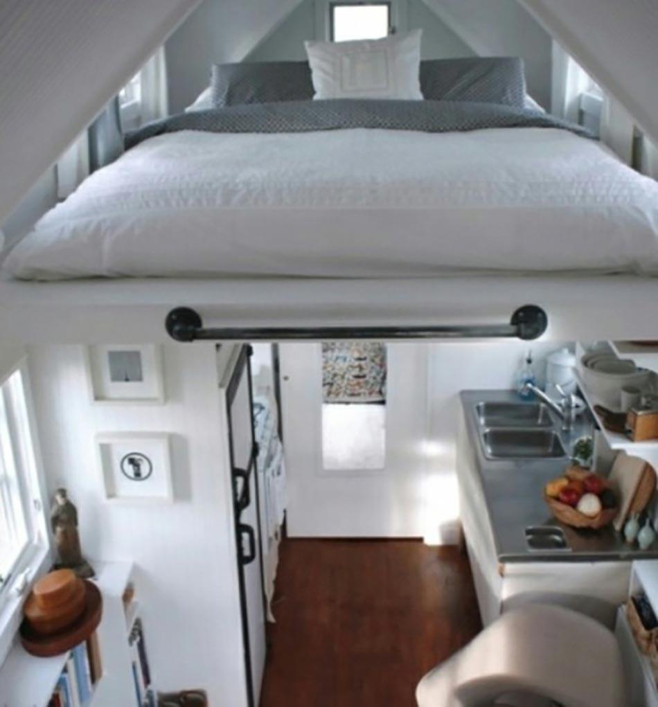 petit appartement aux lits gagne place design feria. Black Bedroom Furniture Sets. Home Design Ideas