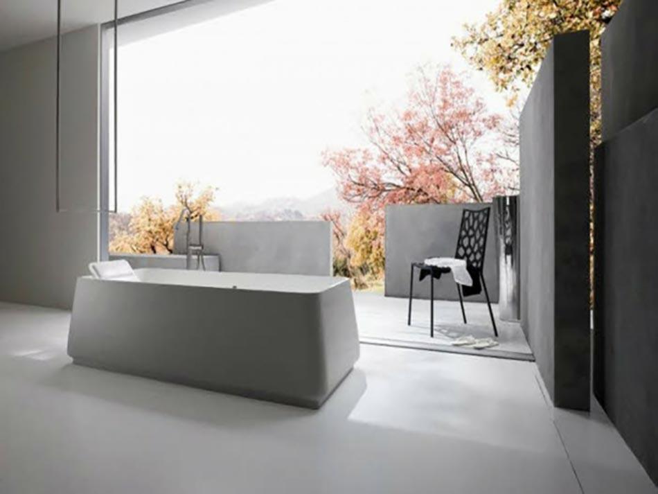 une d co zen pour une salle de bains minimaliste design feria. Black Bedroom Furniture Sets. Home Design Ideas