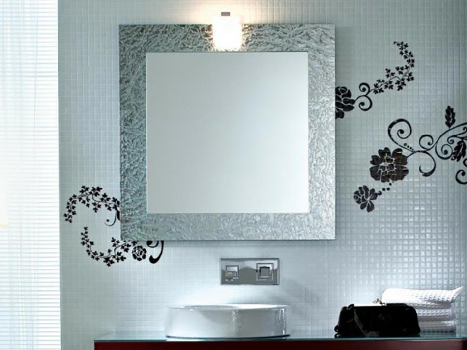 Miroir de salle de bain l encadrement design design feria for Miroir salle de bain noir
