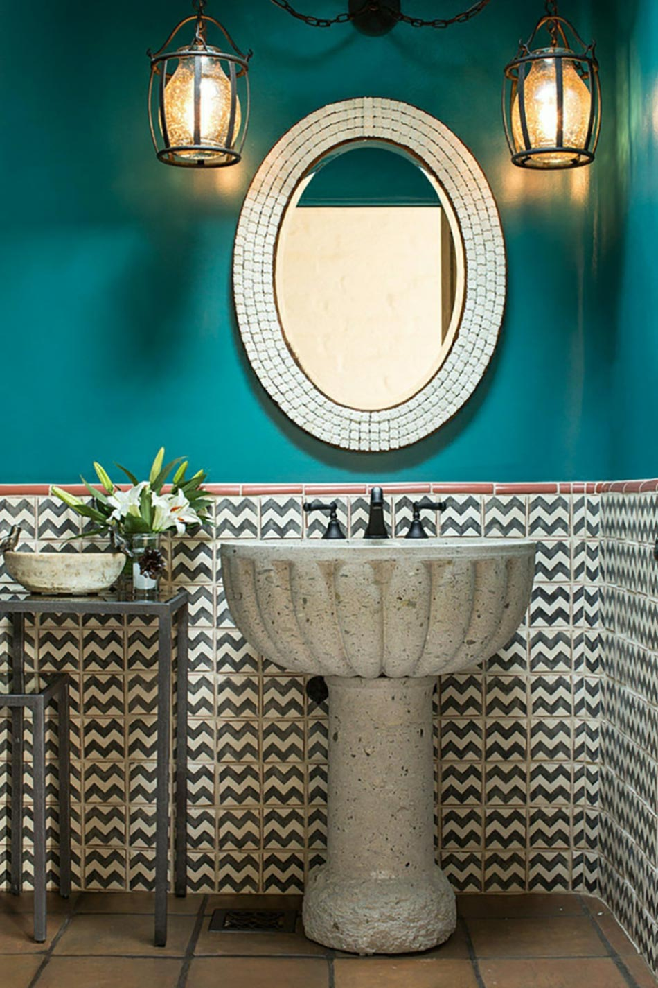 Miroir de salle de bain à l'encadrement design  Design Feria