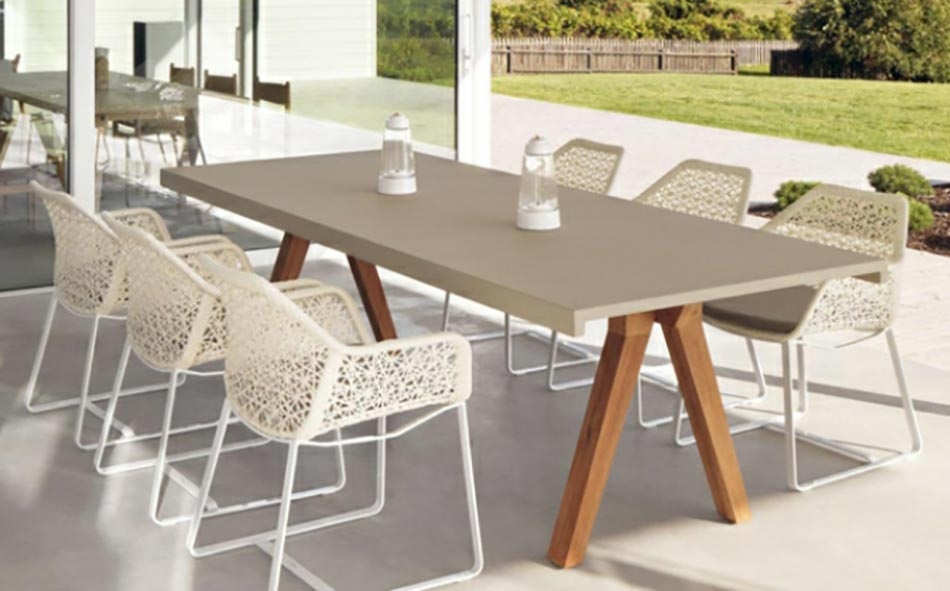 Table de jardin design for Mobilier jardin pas cher design