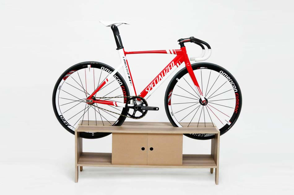 mobilier bas design simple support à vélo
