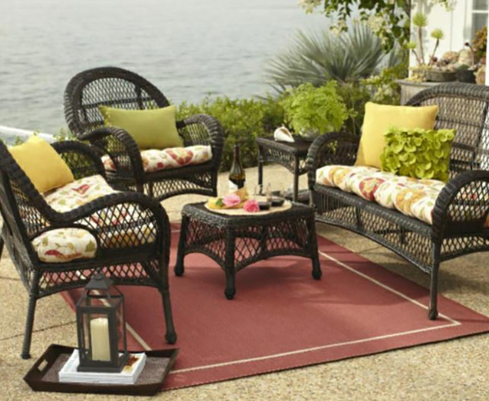 Salon De Jardin Rotin Gris :  De Jardin En Rotin ~ table salon de jardin rotin outdoor rotin design