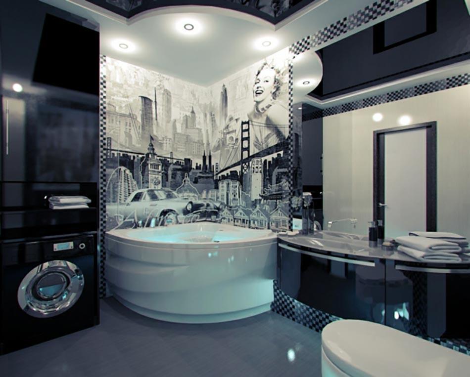 Salle de bain de luxe aux inspirations diverses design feria for Modele salle de bain design