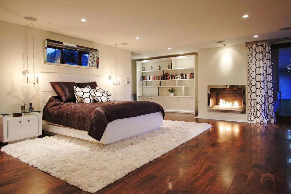 15 exemples d une belle chambre avec chemin e aux. Black Bedroom Furniture Sets. Home Design Ideas