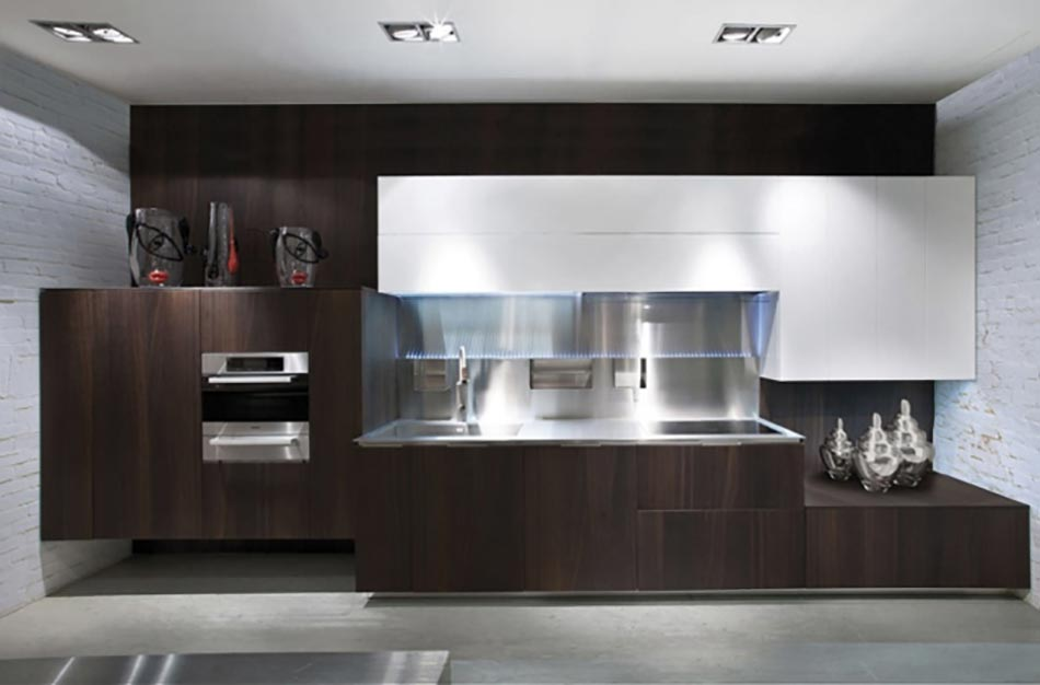 Cuisine Minimaliste Au Design Contemporain En Blanc Design Feria