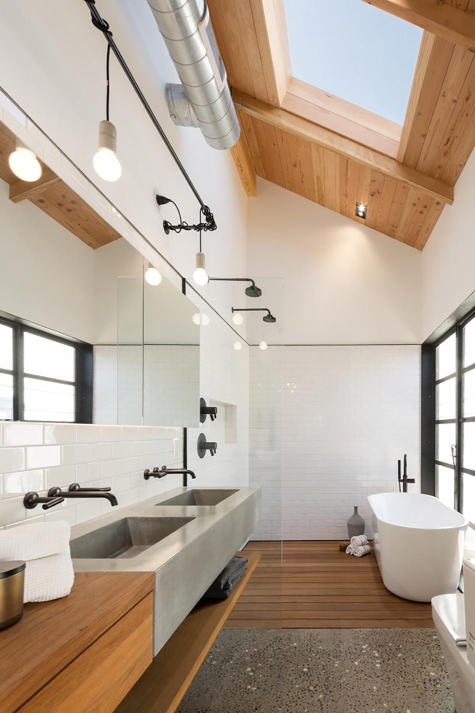 Créative et originale salle de bain au design industriel | Design Feria