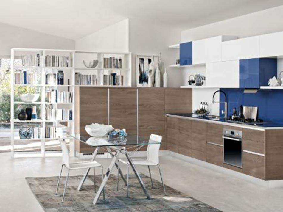 cuisine design spare du living par une tagre aux livres - Etagere Cuisine Moderne