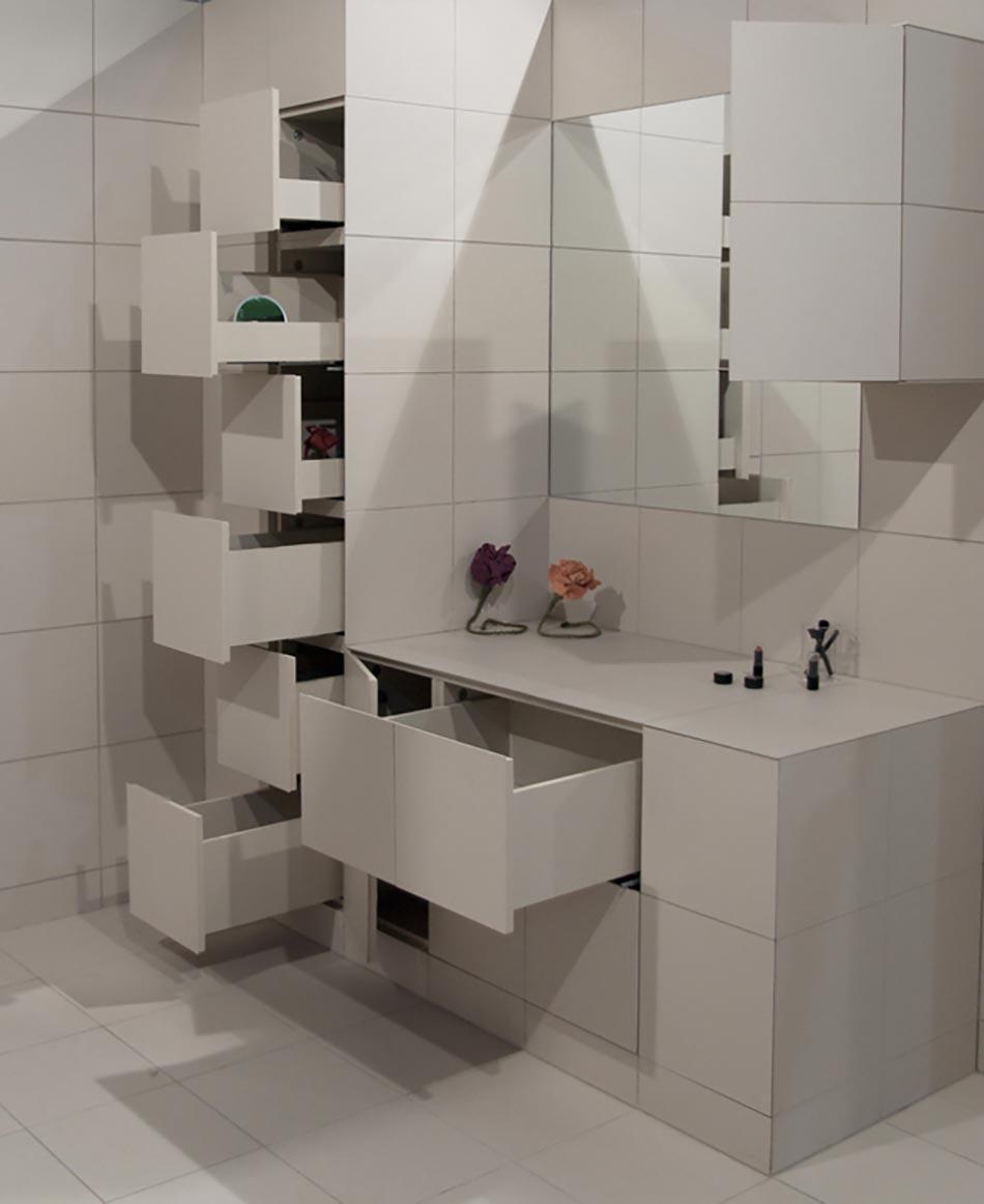 Rangement salle de bain aussi fonctionnel qu esth tique for Rangement a suspendre salle de bain