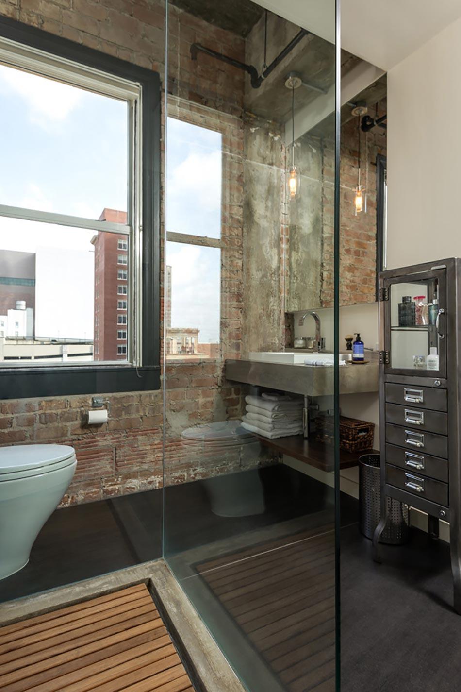 cr ative et originale salle de bain au design industriel design feria. Black Bedroom Furniture Sets. Home Design Ideas