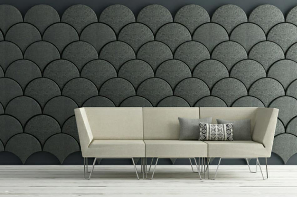 isolation acoustique Gingko design en gris