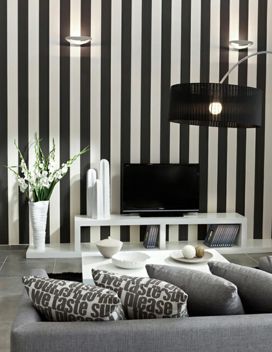 Photo Noir Et Blanc Design déco maison à l'aide des rayures indémodables | design feria