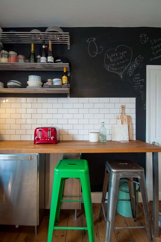 Le tableau noir une id e de d co cuisine cr ative et for Tableau noir pour cuisine