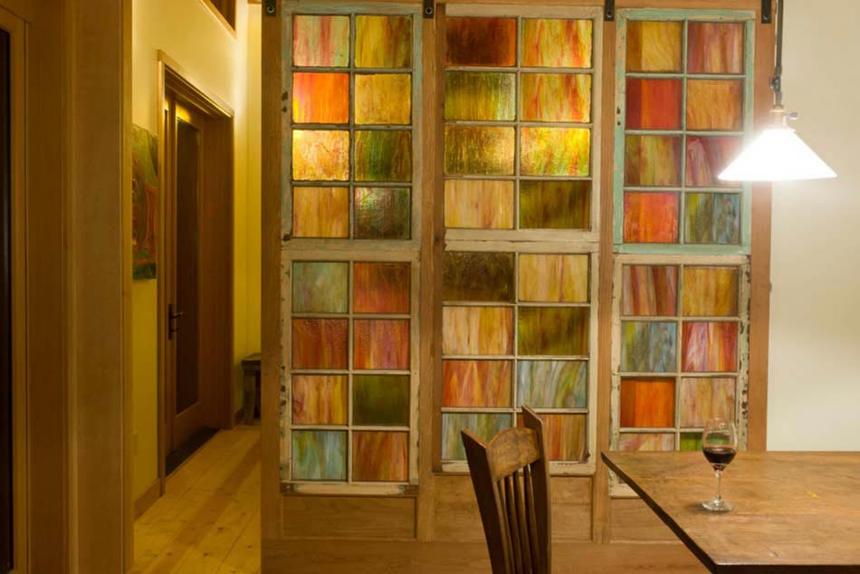 Porte int rieure vitr e et sa place dans le design - Couleur de porte interieur ...