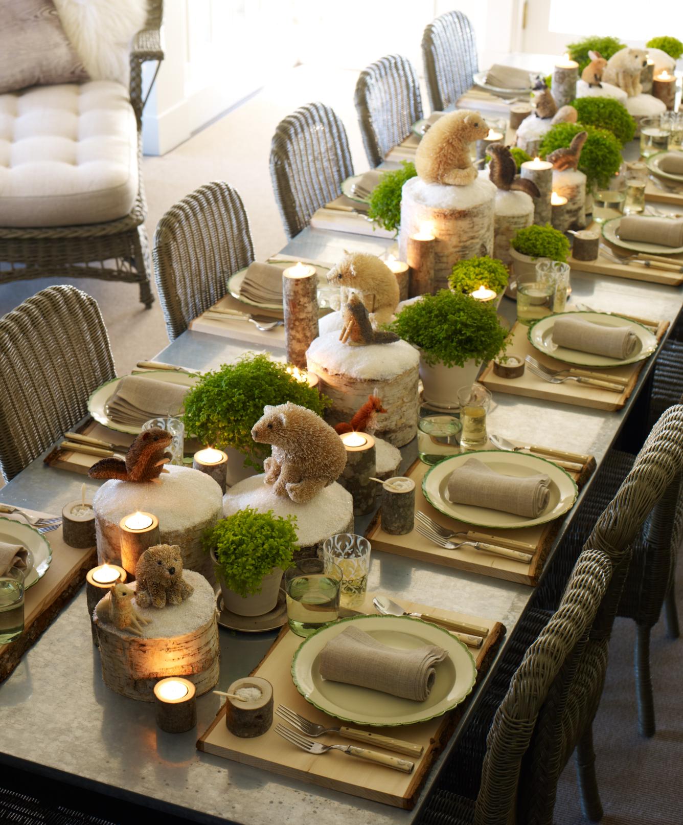 Quelques id es pour d corer sa table de no l design feria - Decoration de noel originale ...