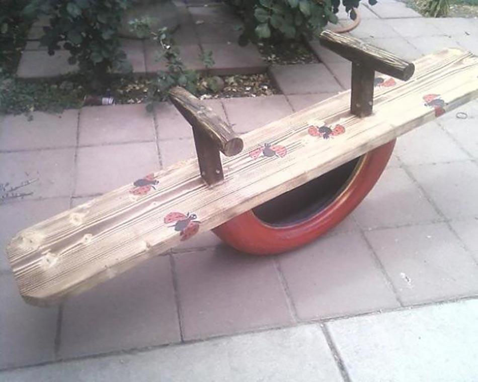 Id es d co pour la maison et le jardin l aide de pneus for Pneu use exterieur