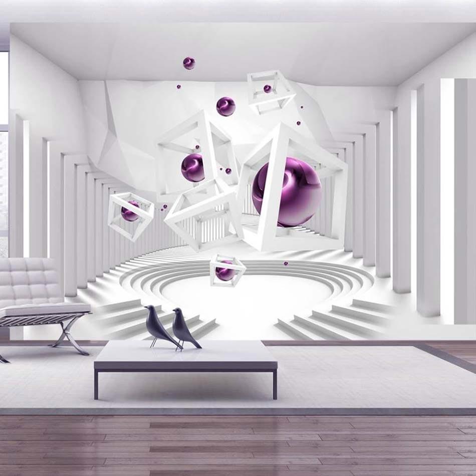 Papier peint 3D créant un effet abstrait et trompe l\'œil saisissant ...