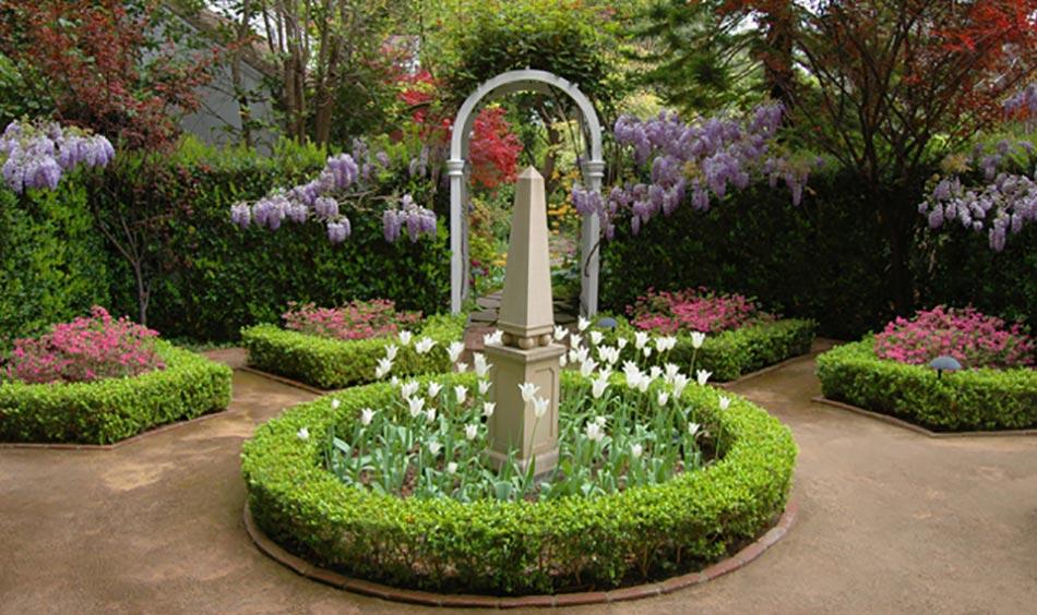 12 exemples d am nagement jardin avec des glycines design feria. Black Bedroom Furniture Sets. Home Design Ideas
