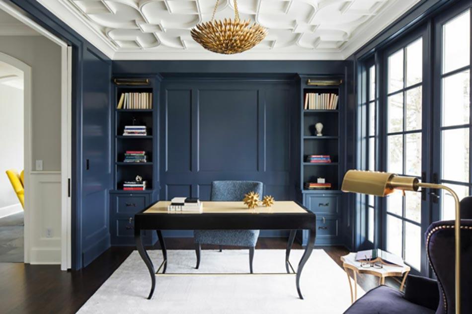 Peindre les murs int rieurs dans des couleurs sombres design feria - Couleur appartement moderne ...