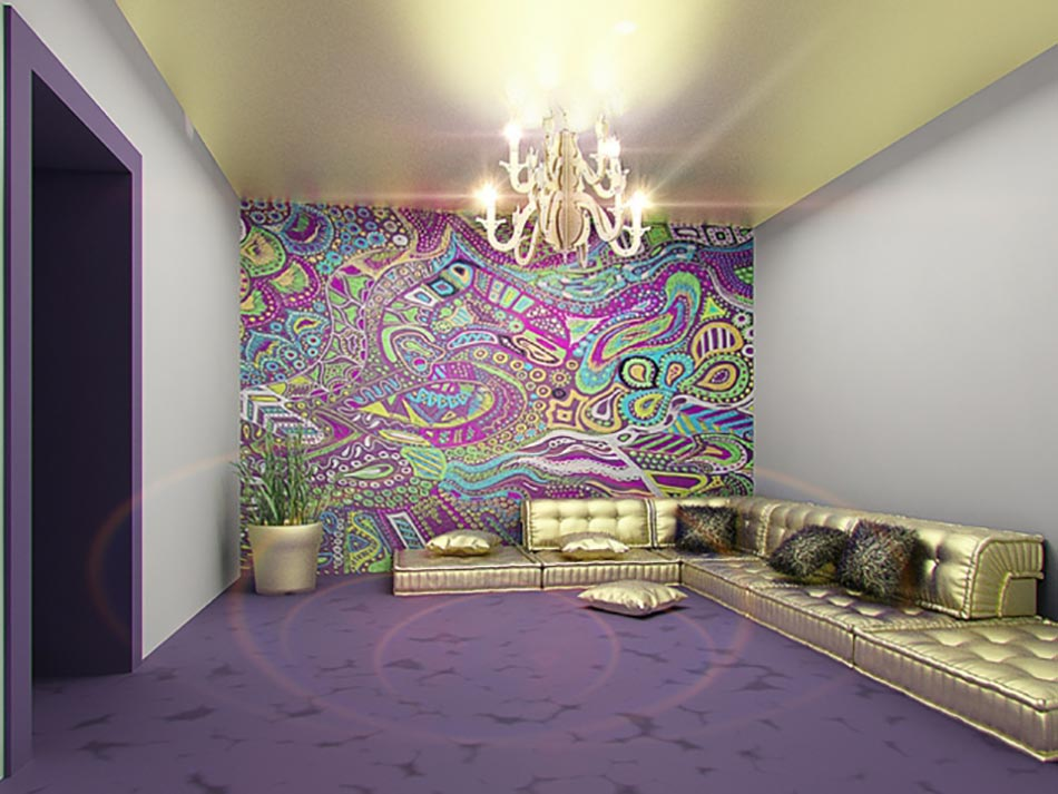 Design int rieur inspir par des murs aux dessins cr atifs for Peinture decoration interieur maison