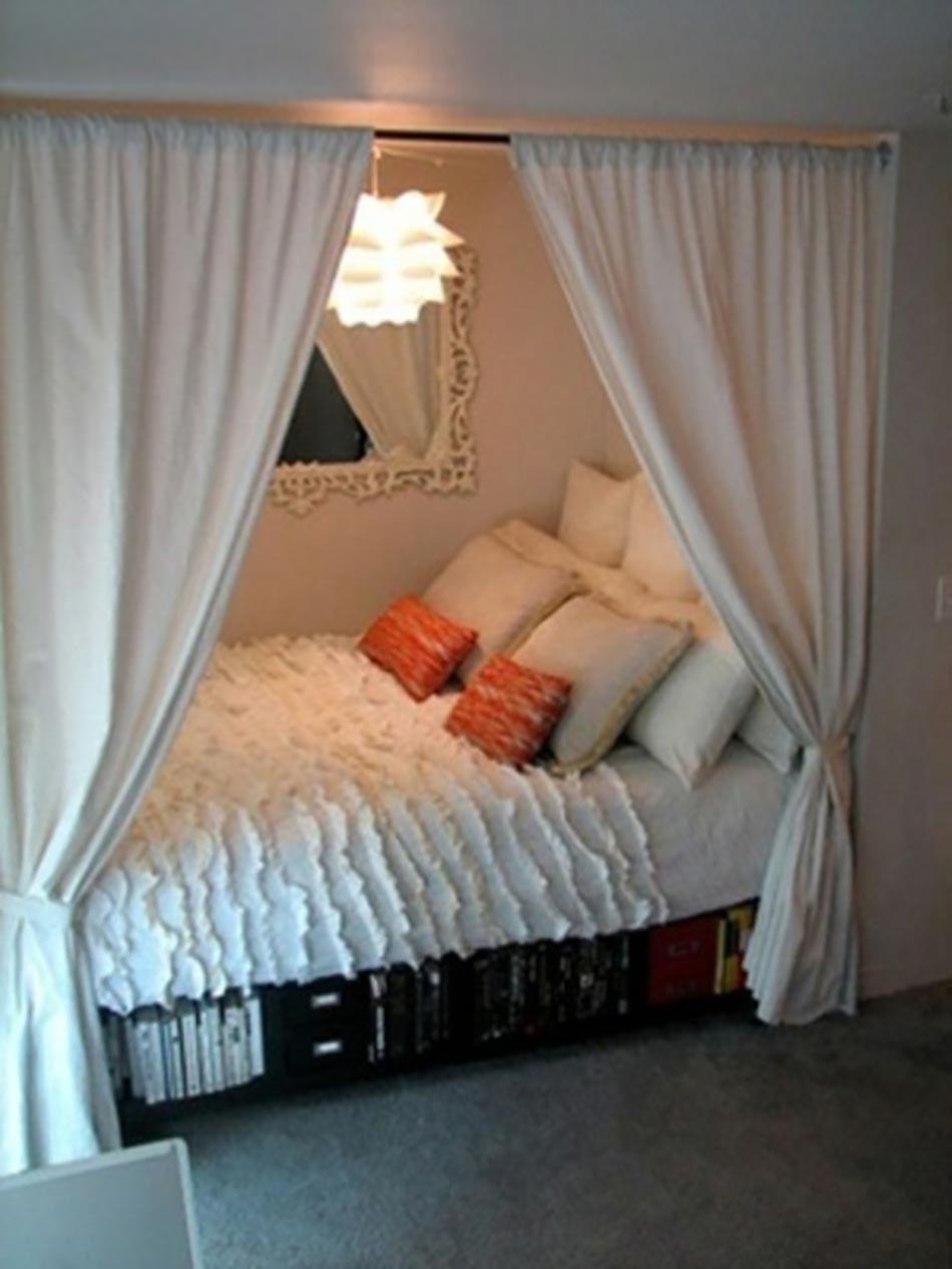 coin sommeil au rideau petit appartement