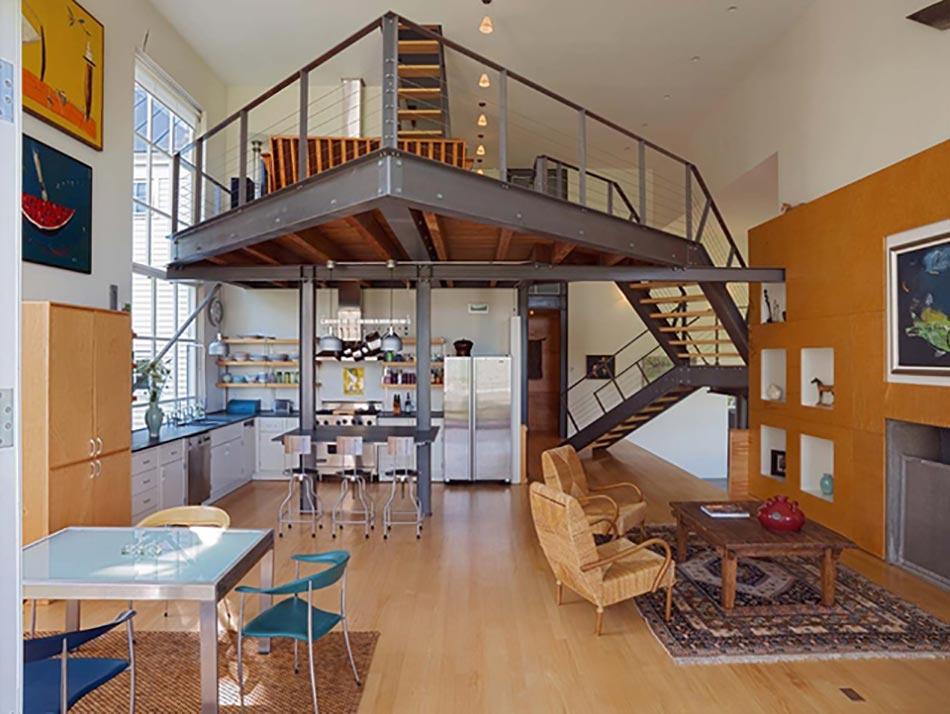Style industriel pour un loft moderne de ville design feria - Batiment industriel moderne ...