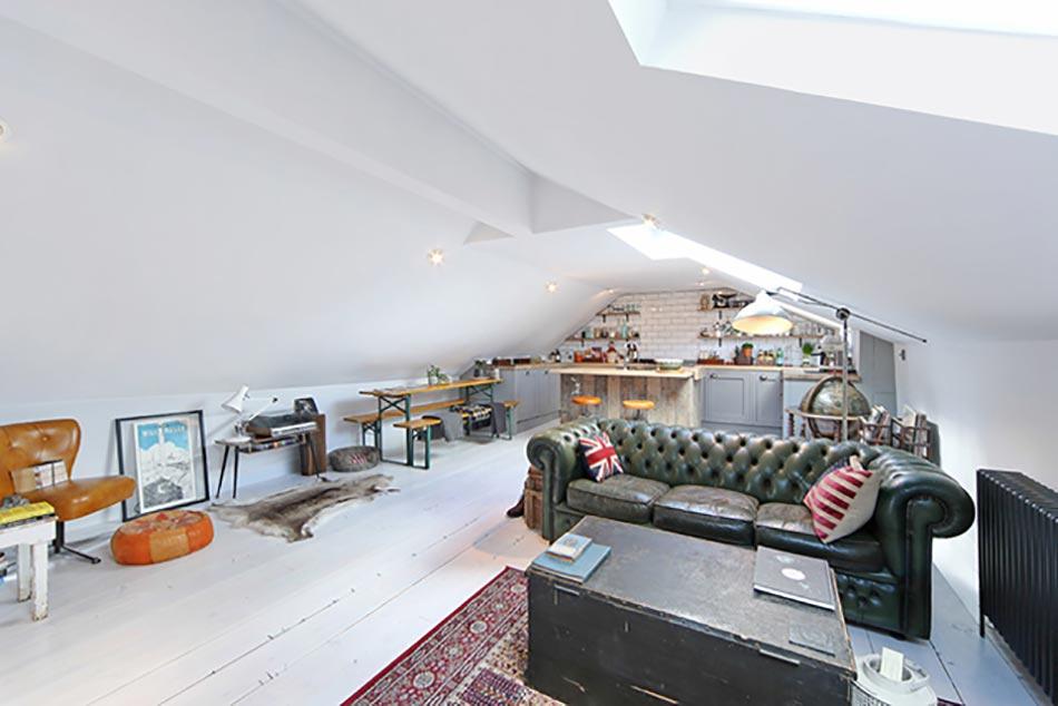Style industriel pour un loft moderne de ville design feria for Amenagement sous les toits