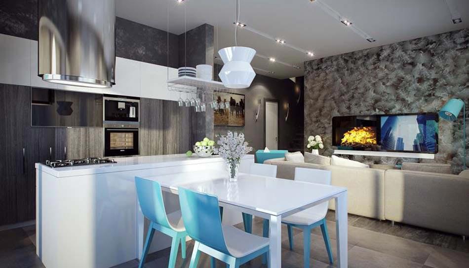 Salle manger design dans un petit appartement de ville for Salle a manger style baroque moderne