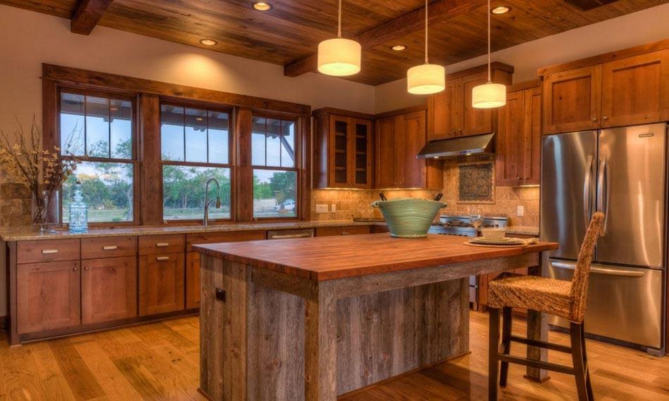 Cuisine rustique contemporaine bois design de maison for Cuisine bois rustique