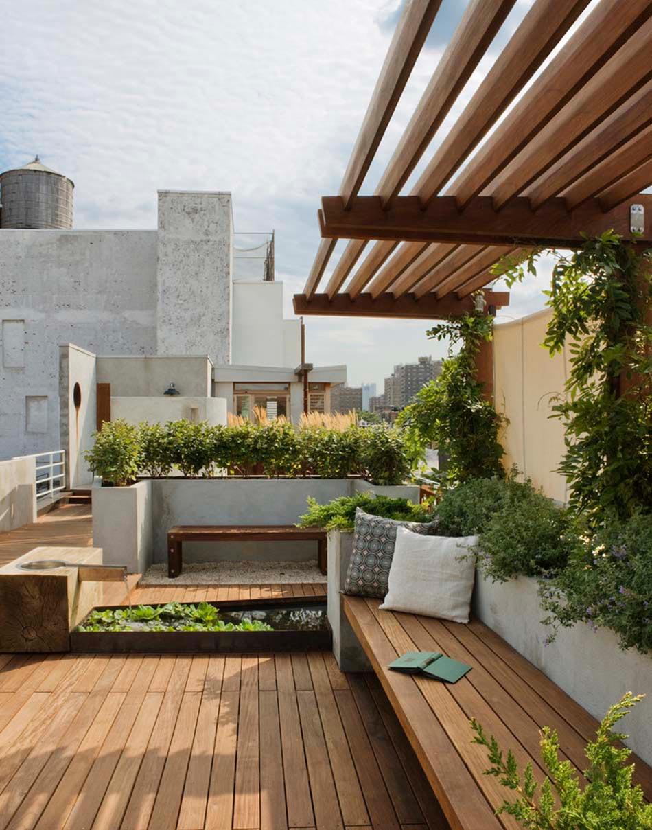 Terrasses Couvertes Pergola Design Offrant Des Espaces Agreables De Detente Design Feria