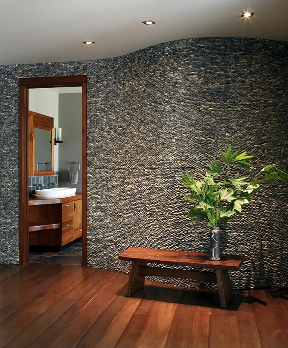 Salle De Bain Avec Mur En Pierre Naturelle Pictures to pin on ...