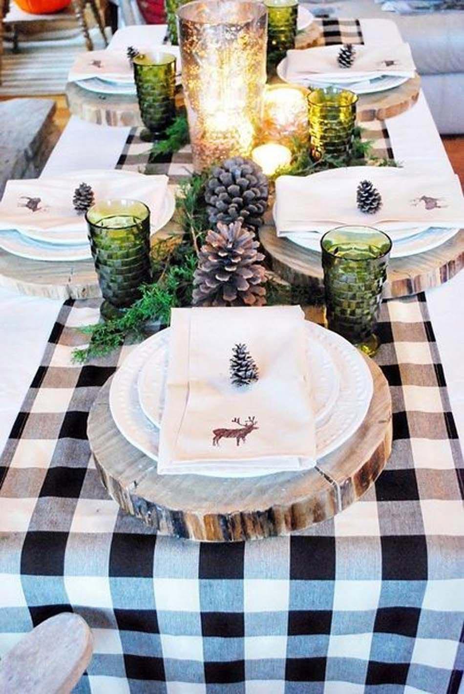 Photo Decoration Table De Noel Cheap Les Idees De Decoration Pour  # Deco Des Table Tv En Rouge Et Blanc