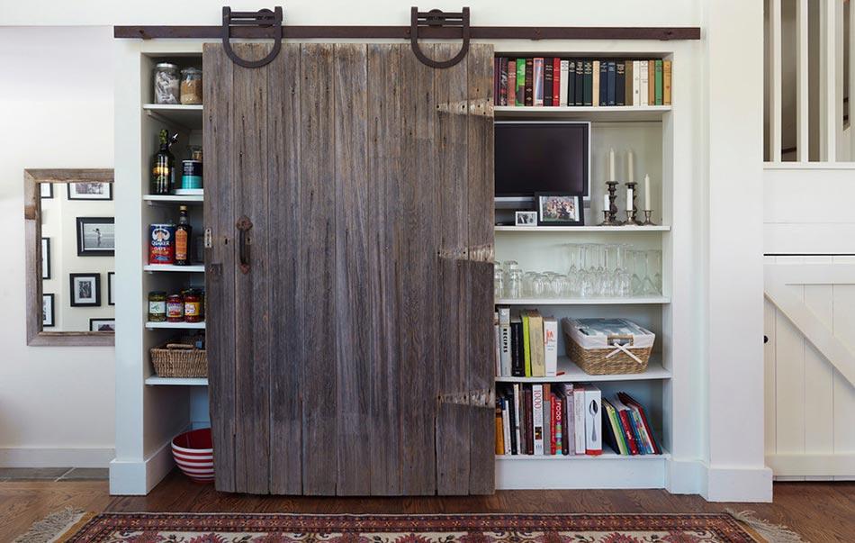 Meuble De Salon Et De Cuisine à La Porte Coulissante Design Rustique