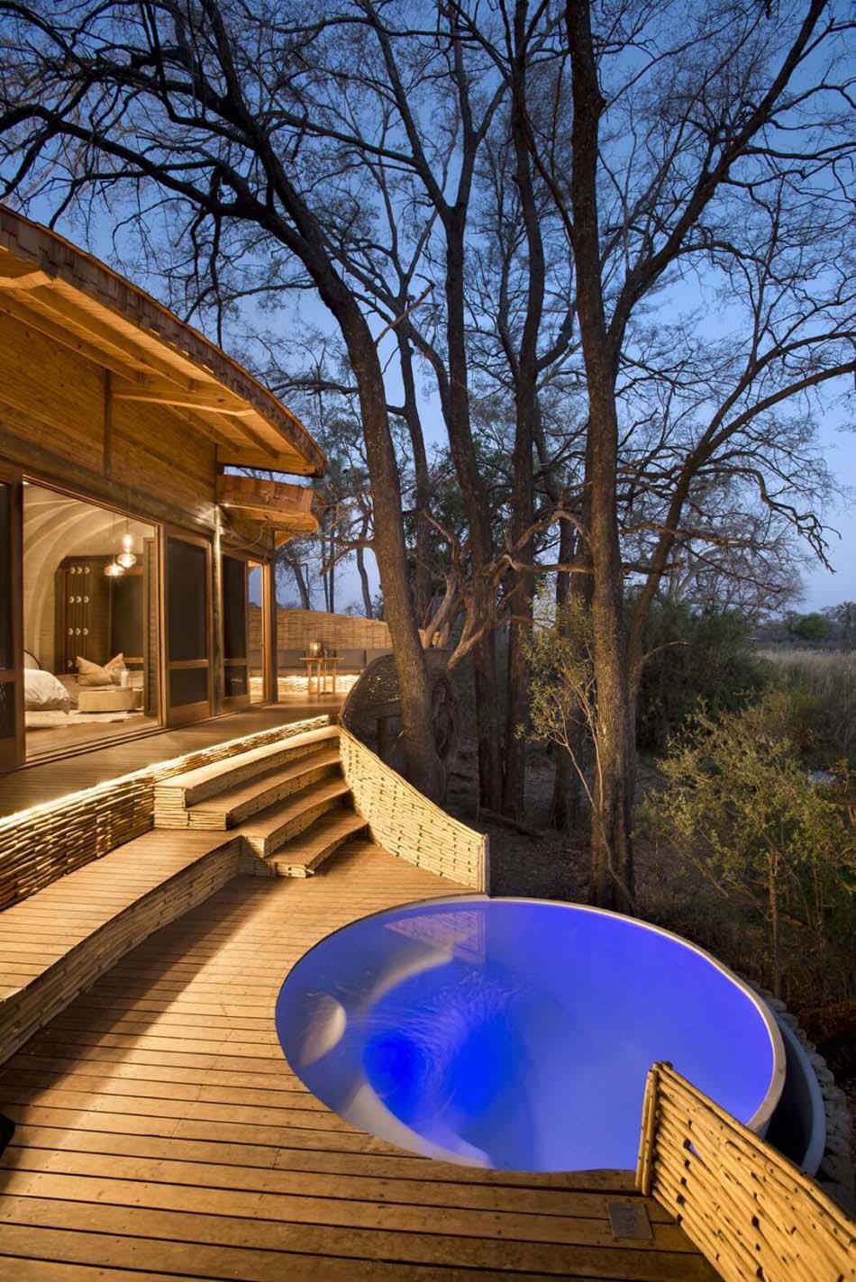 Vacances exotiques pour un safari de tout confort for Architecture qui se fond dans le paysage