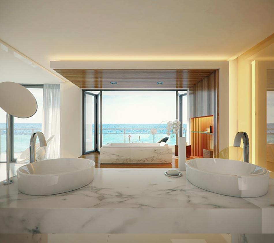 Salle De Bain Beige Meuble Taupe ~ salle de bain de luxe au design modern et chic design feria
