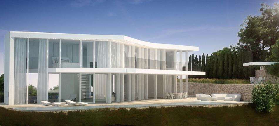 Charmant Façade Extérieure De Cette Magnifique Maison Du0027architecte Située En Hauteur