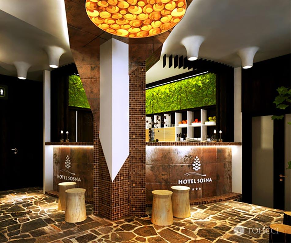 H tel boutique l inspiration verte en slovaquie for Reception design hotel