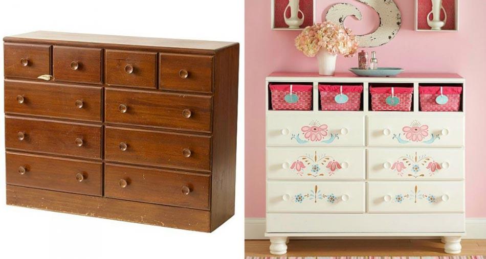 inspiration d co pour redonner vie un vieux meuble design feria. Black Bedroom Furniture Sets. Home Design Ideas