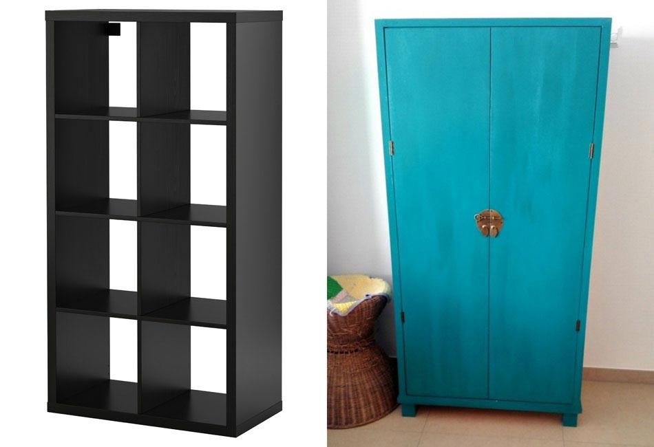 Étagères Simples Ikea Transformées En Meuble Créatif à La Décoration « Zen »