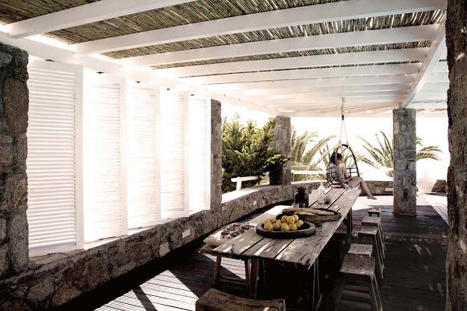 San giorgio mykonos hotel un paradis minimaliste et idyllique dans les cyclades design feria - Couverture pergola canisse ...