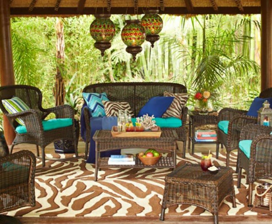 Salon de jardin pour enjoliver nos espaces outdoor design feria - Salon de jardin fer couleur ...